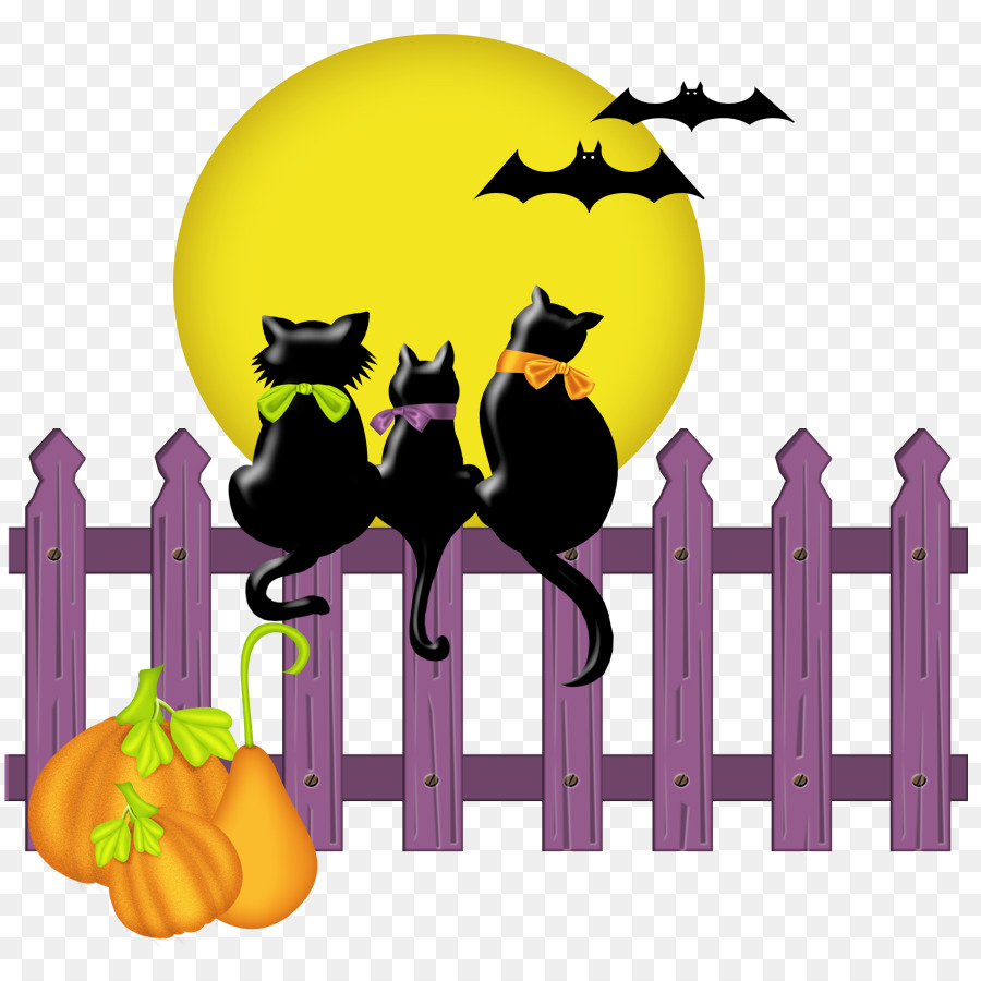 hight resolution of birthday on halloween to fiancee three cute black cats moon bats clipart cat