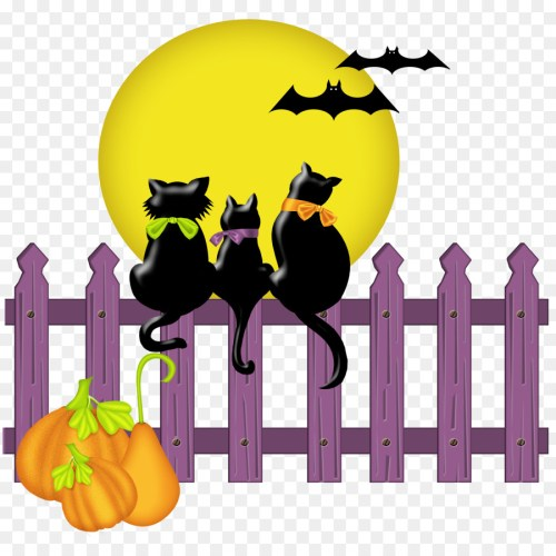 small resolution of birthday on halloween to fiancee three cute black cats moon bats clipart cat