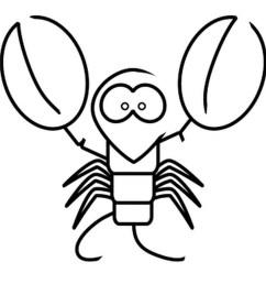 download draw a cartoon lobster clipart lobster drawing clip art [ 900 x 900 Pixel ]