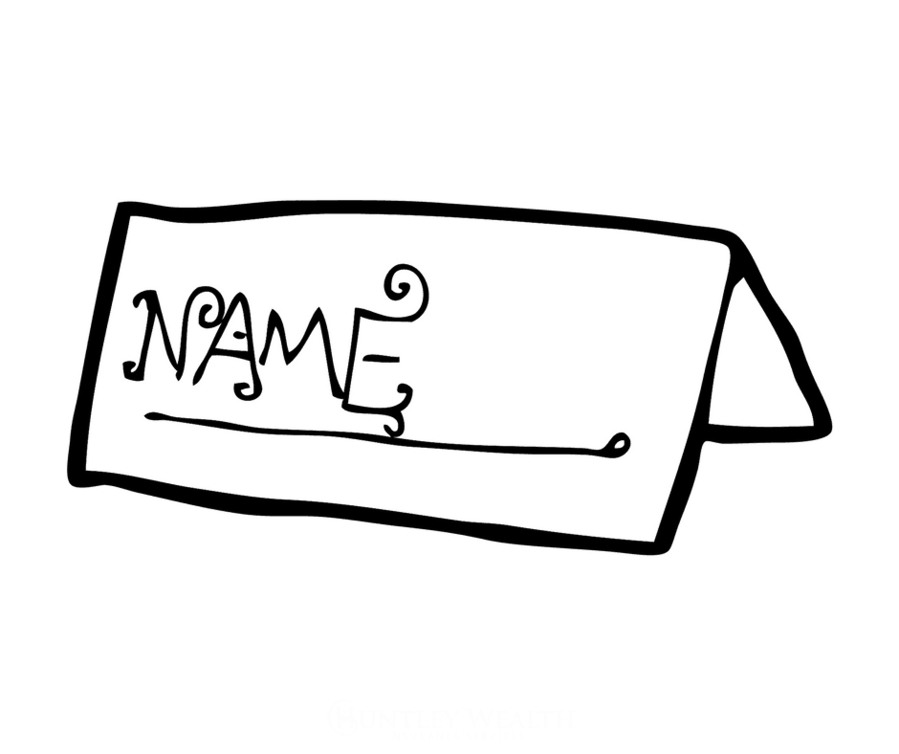 Name Tag Background Clipart Cartoon Illustration White