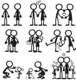 stickman family clipart stick figure clip art [ 900 x 900 Pixel ]