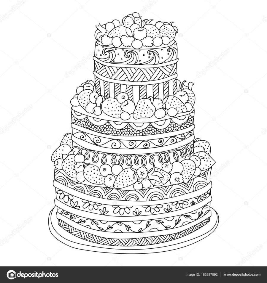 medium resolution of download omalov nky dort clipart coloring book cake cake illustration design