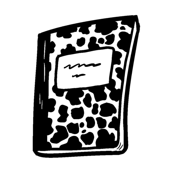 Book Black And White Clipart Notebook Graphics Drawing Transparent Clip Art