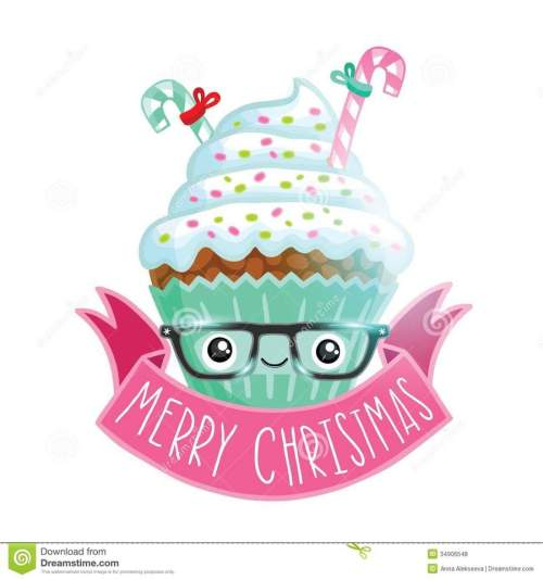 small resolution of christmas cartoon cupcakes clipart cupcake american muffins christmas graphics