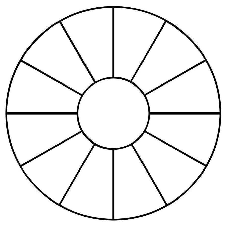 Download empty color wheel clipart Color wheel Coloring