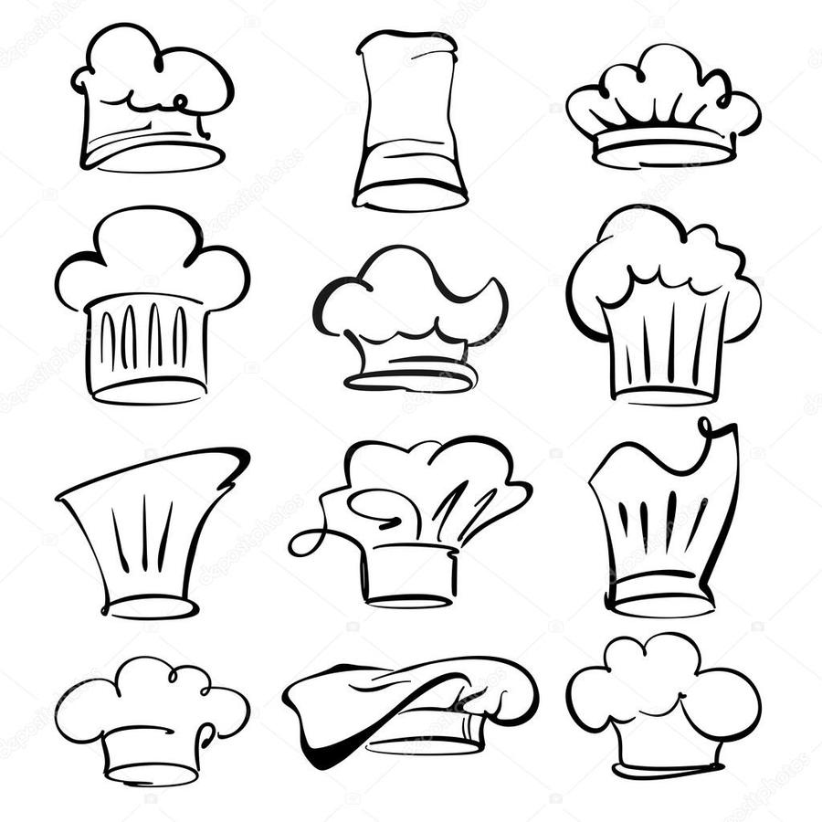 hight resolution of chef hat tatoos clipart royalty free chef hat