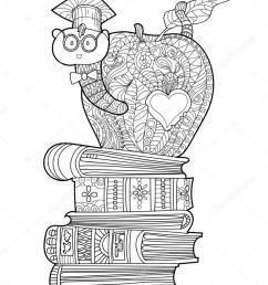 download bookworm wearing graduation hat colouring clipart bookworm clip art [ 819 x 1024 Pixel ]