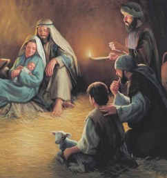 download shepherds and baby jesus clipart nativity of jesus nativity scene christ child child art painting  [ 900 x 1171 Pixel ]