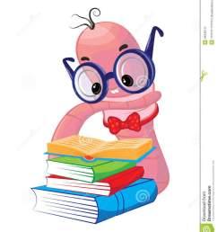 funny bookworm clipart worm [ 900 x 1026 Pixel ]