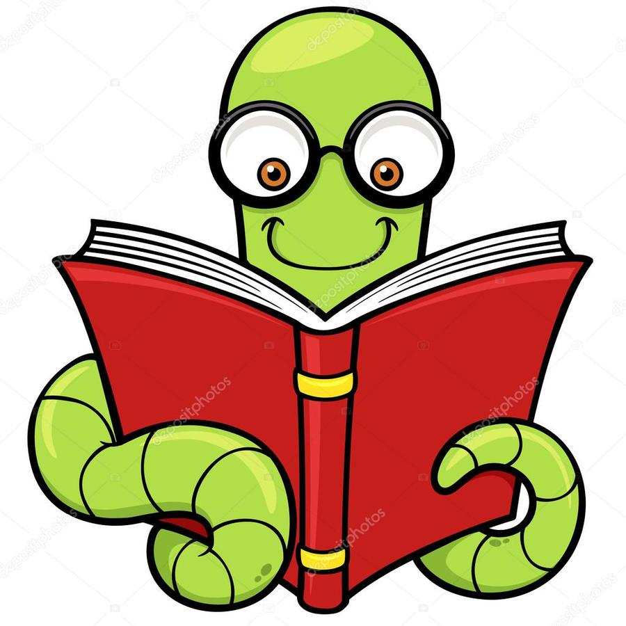 hight resolution of book worm clipart