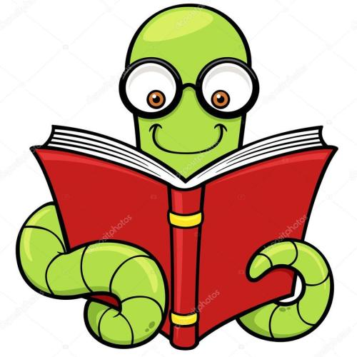 small resolution of book worm clipart