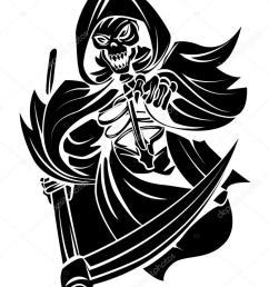grim reaper vector clipart death clip art [ 782 x 1023 Pixel ]