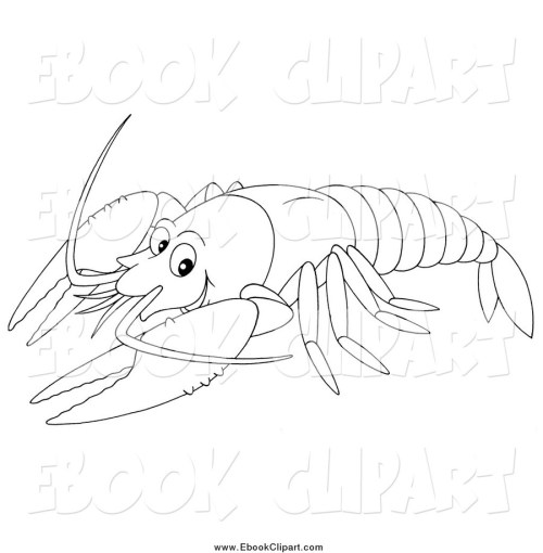 small resolution of download lobster coloring page clipart sea creatures black and white clip art