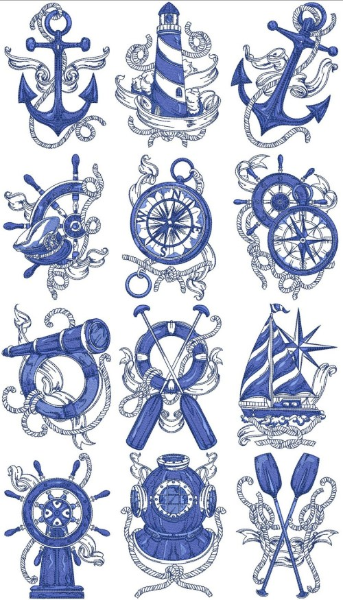 small resolution of nautical embroidery designs clipart machine embroidery appliqu