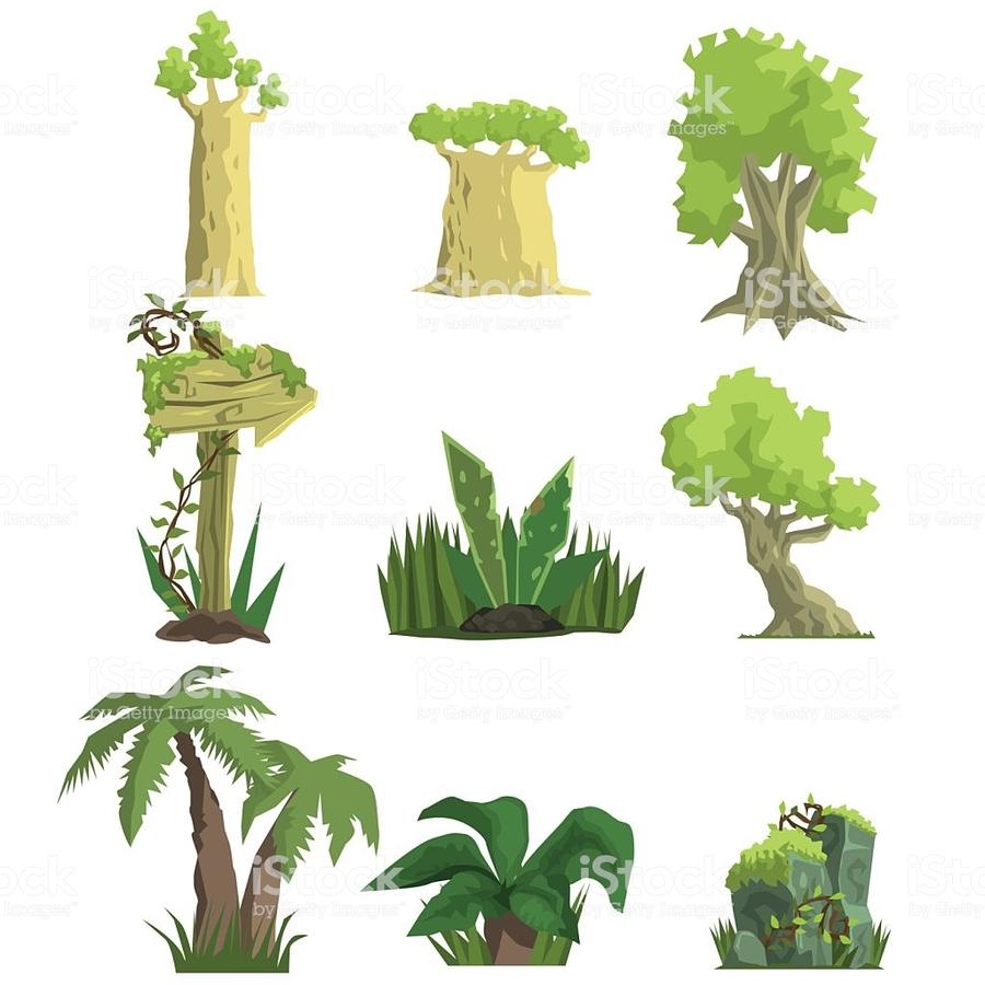 medium resolution of arboles animados del bosque tropical clipart tropical forest tropics