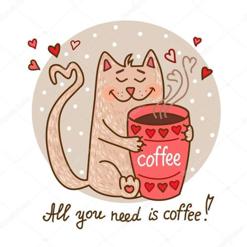 small resolution of cartoon cat drinking coffee clipart coffee clip art