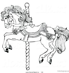 download carousel horse coloring page clipart mustang colouring pages pony [ 900 x 917 Pixel ]