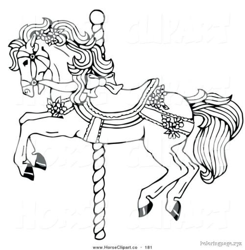 small resolution of download carousel horse coloring page clipart mustang colouring pages pony