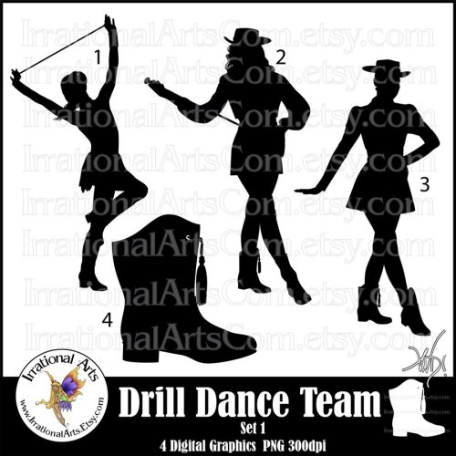 small resolution of dance and drill team clipart drill team dance clip art