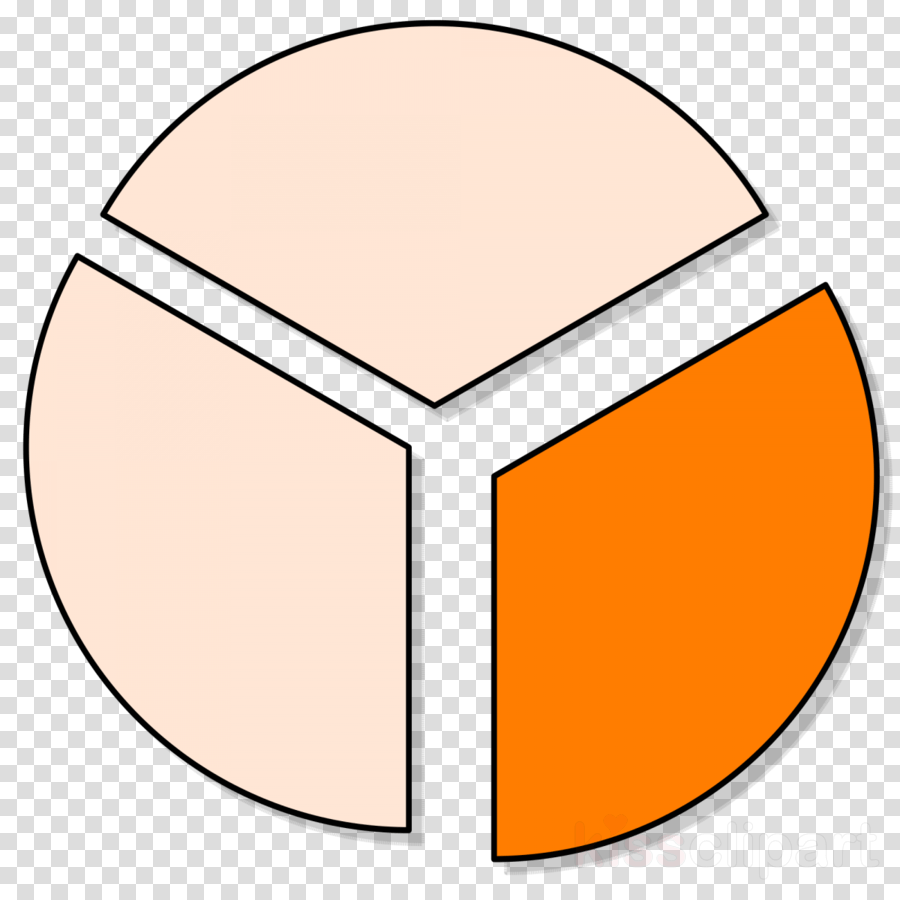 hight resolution of one third clipart pie chart clip art