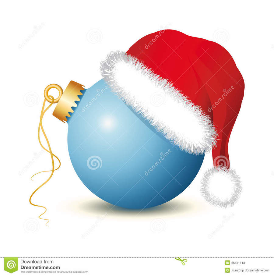 medium resolution of christmas balls with santa hat clipart santa claus christmas ornament christmas decoration