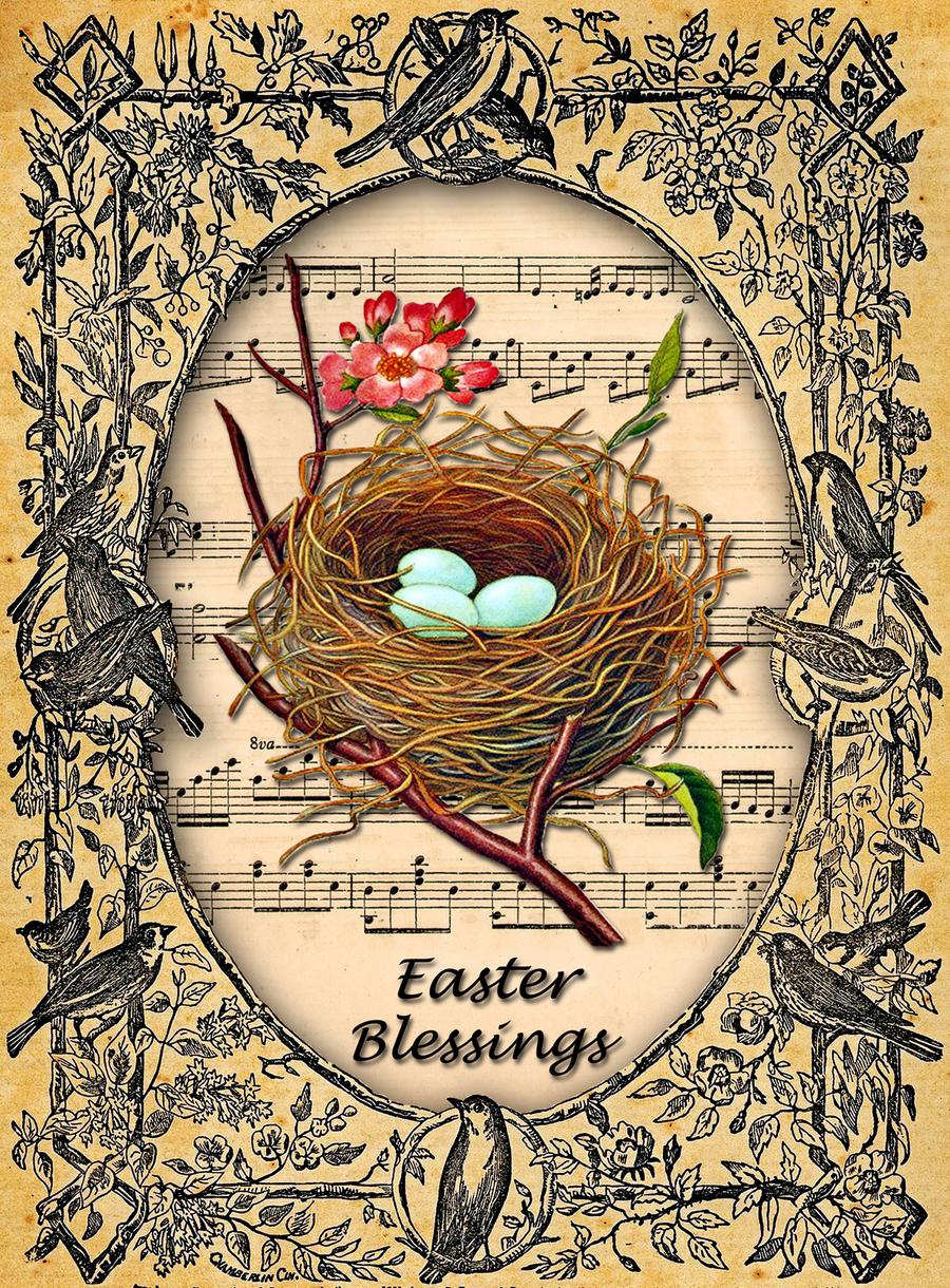 medium resolution of download vintage easter blessings clipart lent easter clip art easter bunny