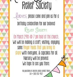 relief society clipart relief society the church of jesus christ of latter day saints birthday [ 900 x 1350 Pixel ]