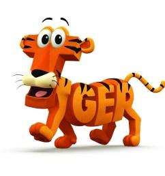 word art tiger clipart tiger clip art [ 900 x 900 Pixel ]
