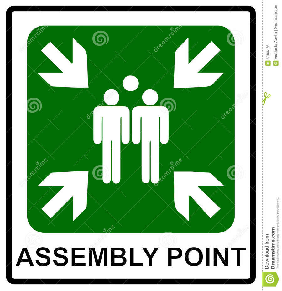 hight resolution of assembly point sign clipart meeting point signage clip art