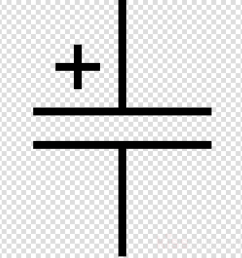 condensador simbolo clipart electrolytic capacitor electronic symbol [ 900 x 900 Pixel ]