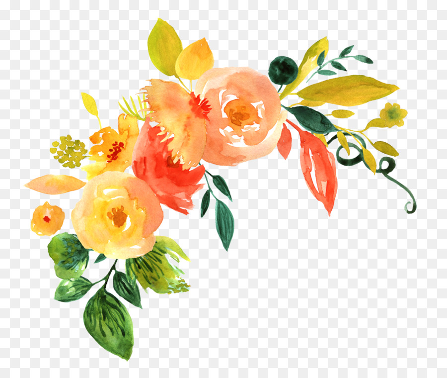 flower art watercolortransparent png