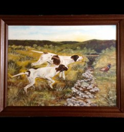 hunting dog clipart painting hunting dog pointer [ 900 x 900 Pixel ]
