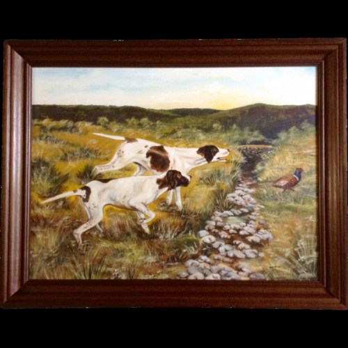 small resolution of hunting dog clipart painting hunting dog pointer