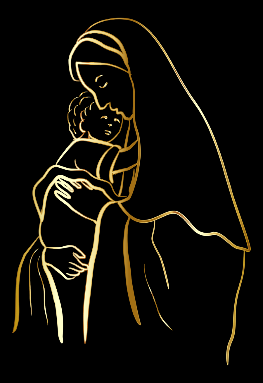 medium resolution of mary and jesus outline clipart christ child nazareth clip art