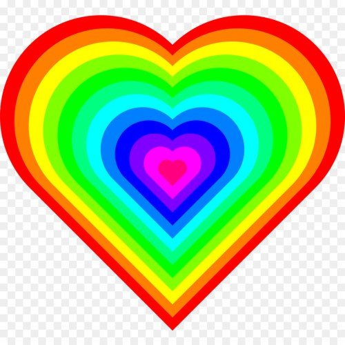 small resolution of download rainbow heart gif clipart rainbow clip art
