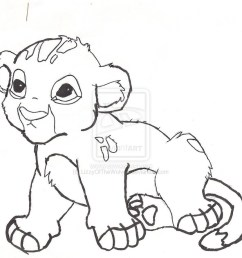 coloring baby lion clipart lion cute colouring baby colori [ 897 x 889 Pixel ]