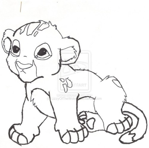 small resolution of coloring baby lion clipart lion cute colouring baby colori