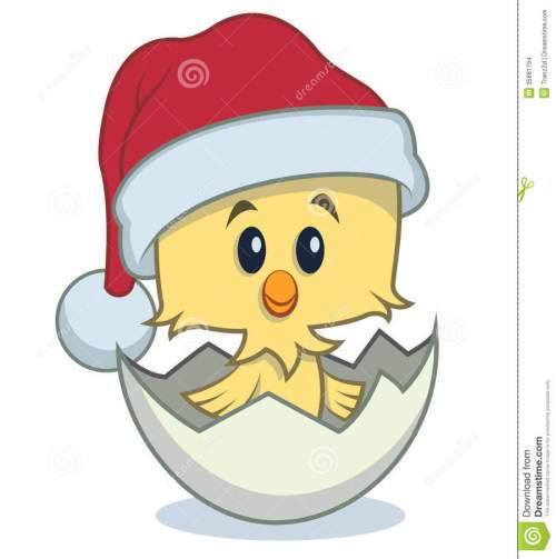 small resolution of chick with santa hat clipart santa claus