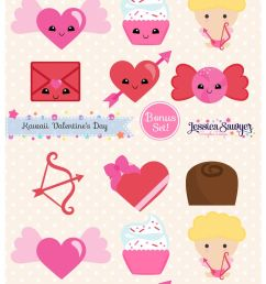 free download free valentine s day planner stickers clipart valentine s day clip art it comes with full background with resolution of 736 1300  [ 736 x 1300 Pixel ]