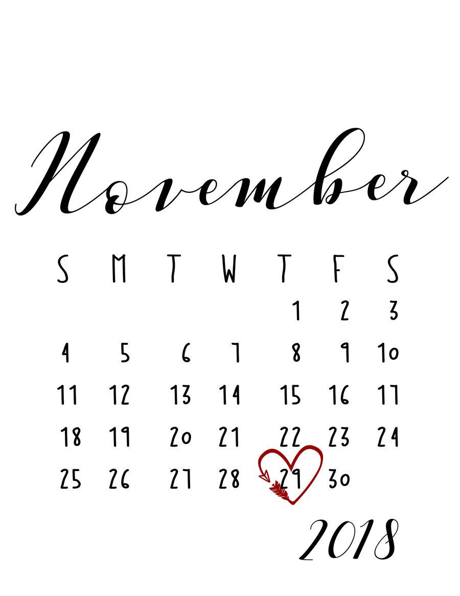 hight resolution of november 2018 announcement calendar clipart calendar date 0