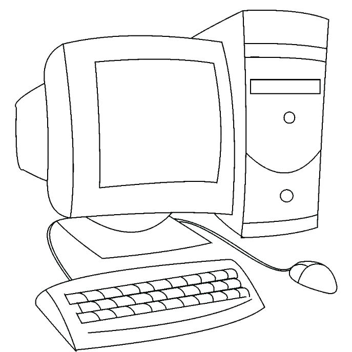 Download parts of computer colouring pages clipart