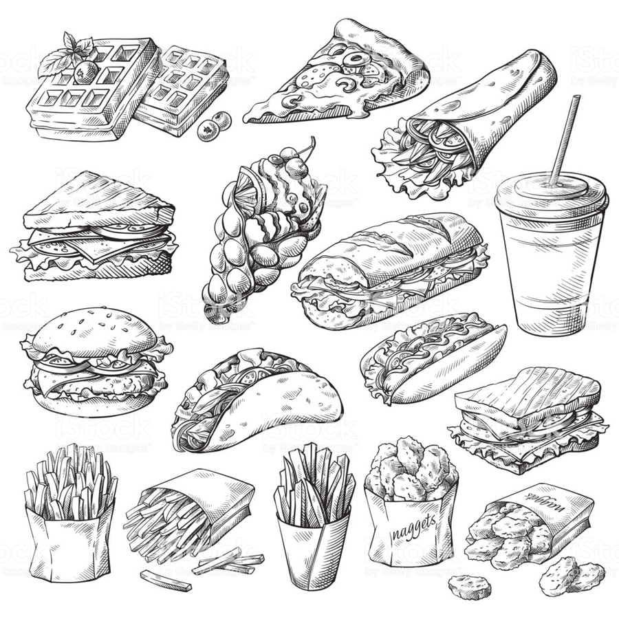 hight resolution of download fast food clipart hamburger french fries fast food jpg 900x900 hamburger clipart black and white