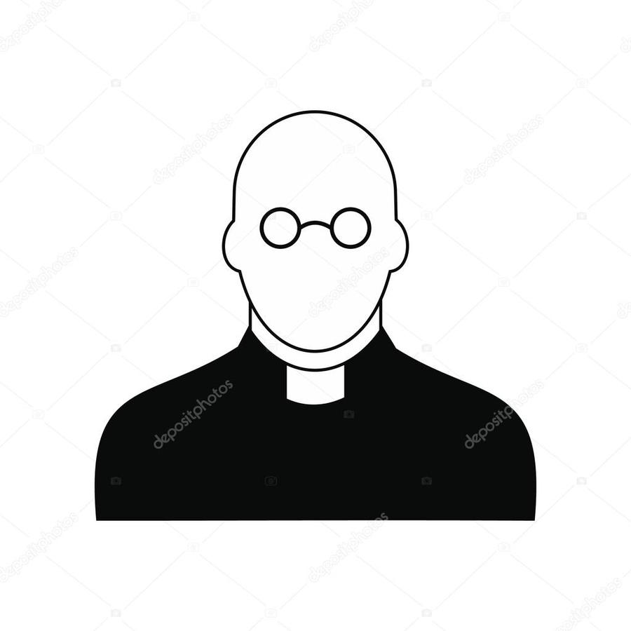 hight resolution of priest clipart priest clip art