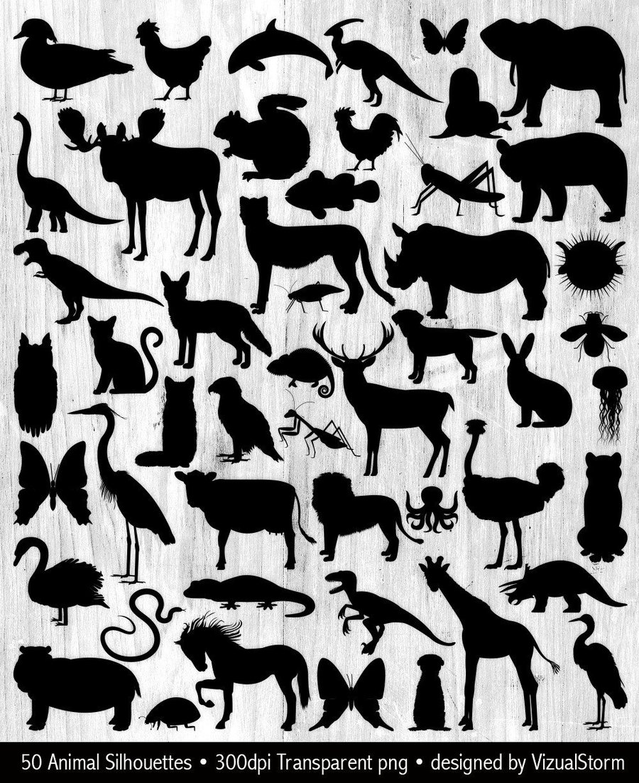 medium resolution of wild animal silhouettes clipart animal silhouettes clip art