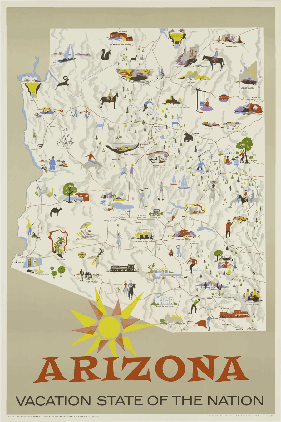 hight resolution of state of arizona poster clipart grand canyon national park allposters com