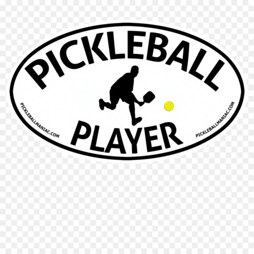 small resolution of pickleball player 2 rectangle car magnet clipart car logo brand