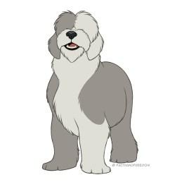 faithandfreedom deviantart kaiser clipart dog breed puppy old english sheepdog [ 900 x 900 Pixel ]