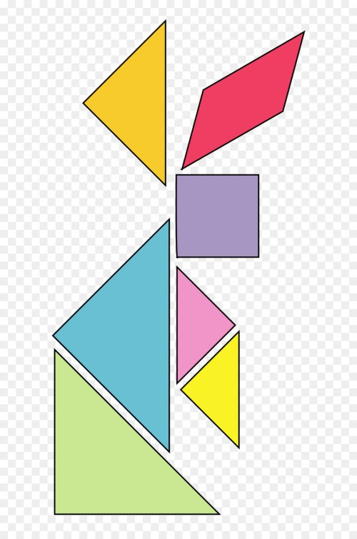small resolution of tangram bunny clipart jigsaw puzzles tangram