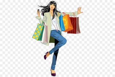 Shopping Cartoon clipart Clothing Shopping Illustration transparent clip art