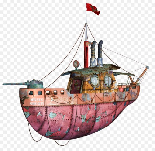 small resolution of steampunk boat clipart tugboat
